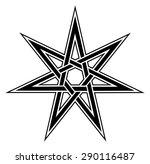 fairy star  elven  heptagram ... | Shutterstock .eps vector #290116487