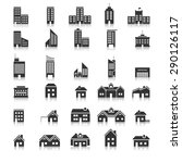 buildings icons vector eps10.