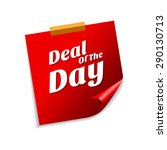 deal of the day red sticky... | Shutterstock .eps vector #290130713