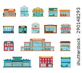 stores and supermarkets big and ... | Shutterstock .eps vector #290148293