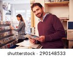 man working behind the counter... | Shutterstock . vector #290148533