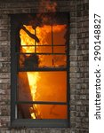 a fire burns inside a... | Shutterstock . vector #290148827