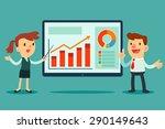 illustration of businessman and ... | Shutterstock .eps vector #290149643