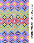 colorful thai silk handcraft...   Shutterstock . vector #290152613