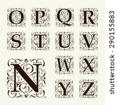 vintage set capital letters ... | Shutterstock .eps vector #290155883