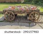 Cart With Flowers. Effect Tilt...