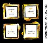 golden frames. set of gold... | Shutterstock .eps vector #290159783
