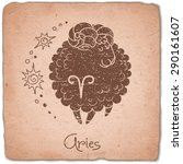 aries zodiac sign horoscope...   Shutterstock .eps vector #290161607