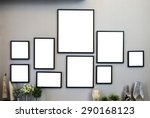 frames on the wall | Shutterstock . vector #290168123