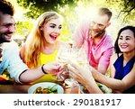 friends friendship outdoor...   Shutterstock . vector #290181917