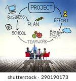 project brainstorm plan effort... | Shutterstock . vector #290190173