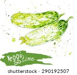 vector watercolor  sketches of  ... | Shutterstock .eps vector #290192507