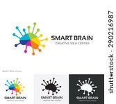 smart brain vector logo template | Shutterstock .eps vector #290216987
