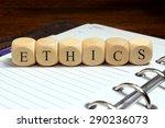 ethics word concept | Shutterstock . vector #290236073