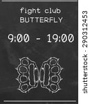 fight club the butterfly. two...   Shutterstock .eps vector #290312453