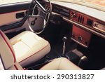 Vintage Car Dashboard  In The...