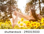 young  attractive woman in a... | Shutterstock . vector #290315033