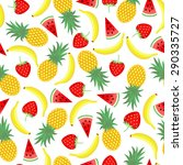 seamless pattern with yellow... | Shutterstock .eps vector #290335727