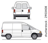 delivery mini van   layout for
