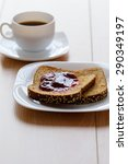 coffee and slices of bread with ...   Shutterstock . vector #290349197