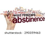Small photo of Abstinence word cloud concept