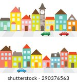 vector illustration of a town... | Shutterstock .eps vector #290376563