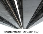underneath view and detail of a ... | Shutterstock . vector #290384417