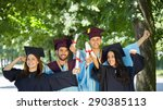 graduation  group of students... | Shutterstock . vector #290385113