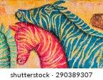 color zebras | Shutterstock . vector #290389307