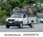Small photo of CHIANGMAI, THAILAND -JUNE 25 2015: Private Garden truck service for home