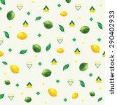 the pattern of polygonal fruit. ... | Shutterstock .eps vector #290402933