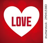 love card design  vector... | Shutterstock .eps vector #290415383