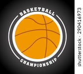 basketball sport design  vector ... | Shutterstock .eps vector #290416973