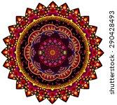 abstract ethnic ornate... | Shutterstock .eps vector #290428493