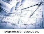 rolls of architecture... | Shutterstock . vector #290429147