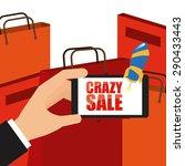 ecommerce labels design  vector ... | Shutterstock .eps vector #290433443