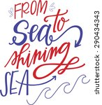 from sea to shining sea | Shutterstock .eps vector #290434343