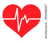 heart rate | Shutterstock .eps vector #290438267