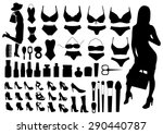 collection of fashion... | Shutterstock .eps vector #290440787