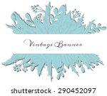 vintage paper doodle banner on...   Shutterstock .eps vector #290452097