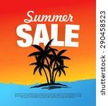 summer sale banner | Shutterstock .eps vector #290458523
