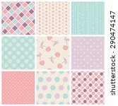 set of seamless patterns | Shutterstock .eps vector #290474147
