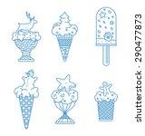 ice cream new year set | Shutterstock .eps vector #290477873