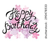"""happy birthday"" hand lettering ... 