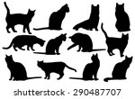 Vector Cats Silhouette