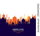 muslim abstract greeting card.... | Shutterstock .eps vector #290492903