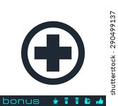 medical cross icon | Shutterstock . vector #290499137