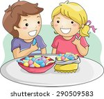 illustration of little kids... | Shutterstock .eps vector #290509583
