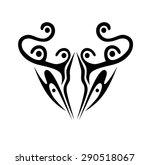 tattoo tribal vector waistline...   Shutterstock .eps vector #290518067