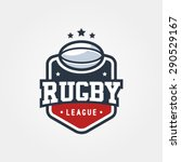 rugby league vintage badge logo ... | Shutterstock .eps vector #290529167